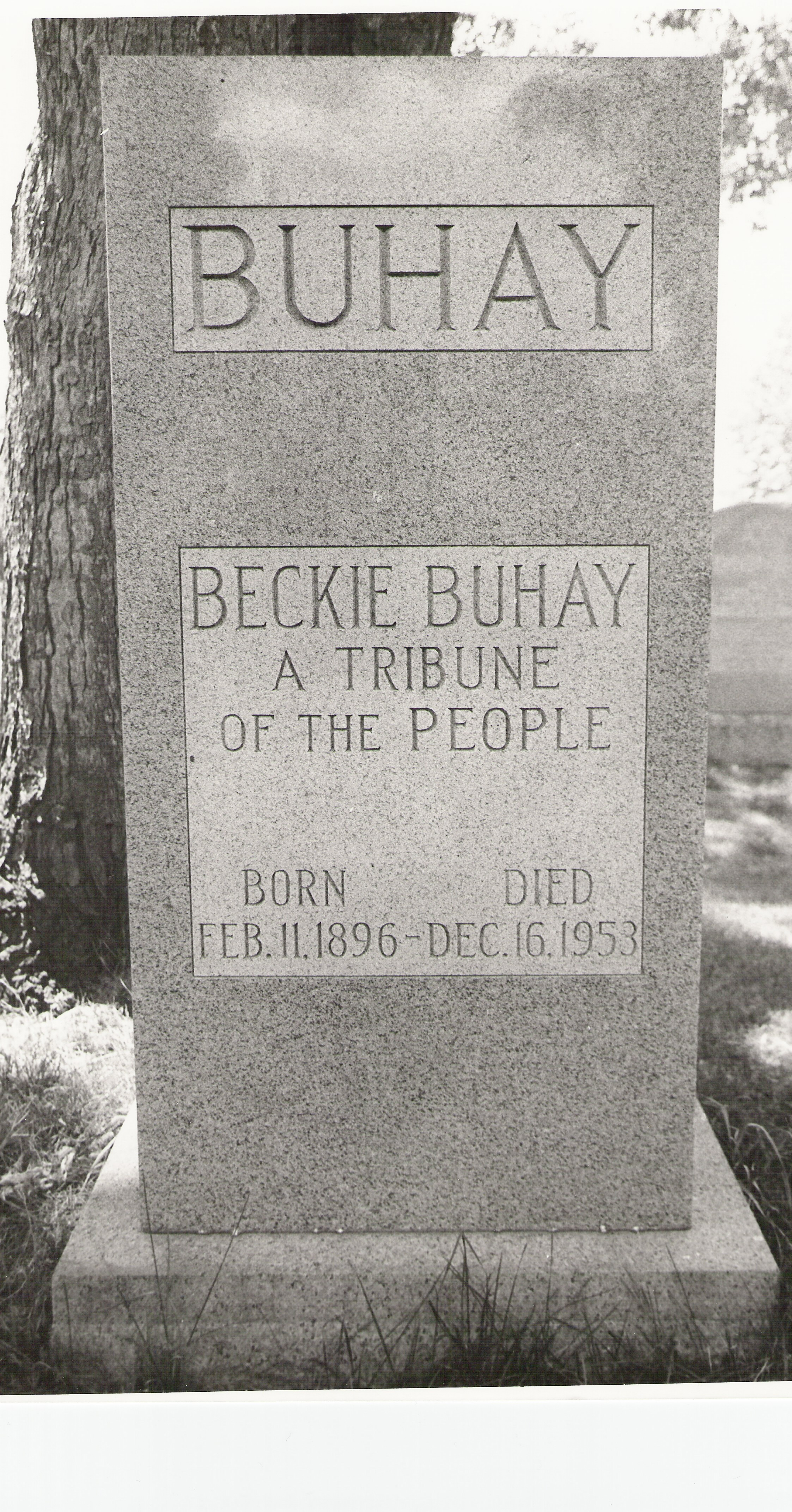 Buhay tombstone