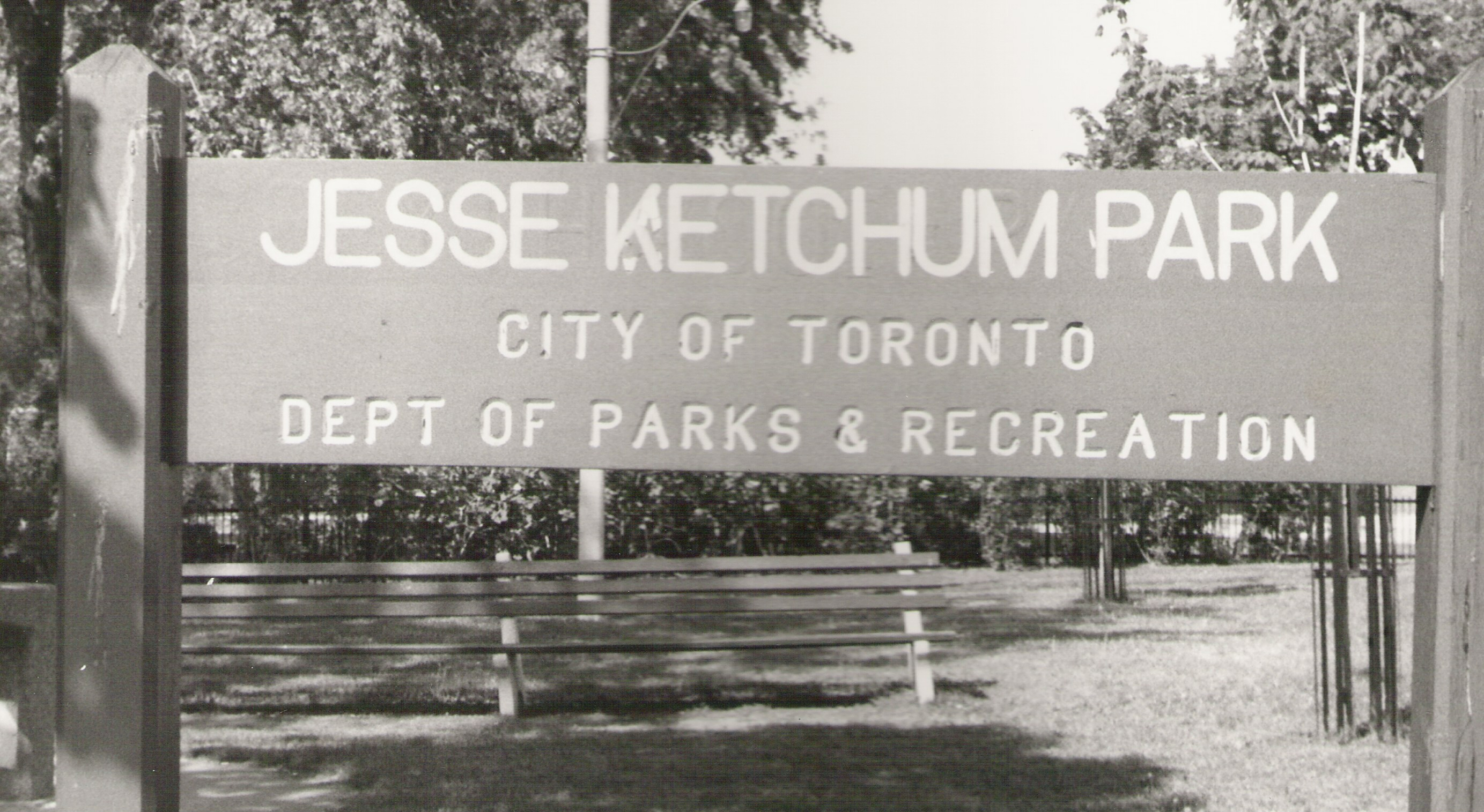 Early sign honoring Jesse Ketchum