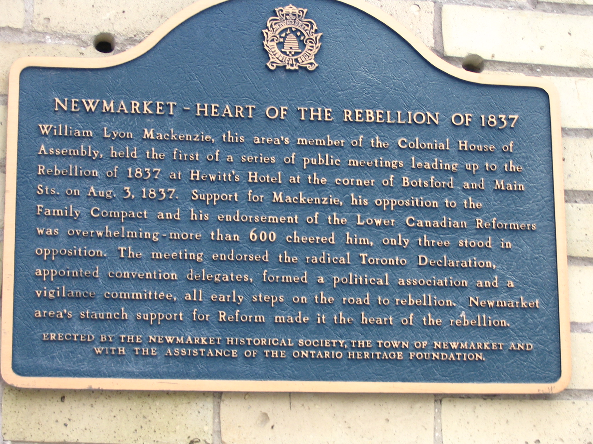heart of the rebellion plaque