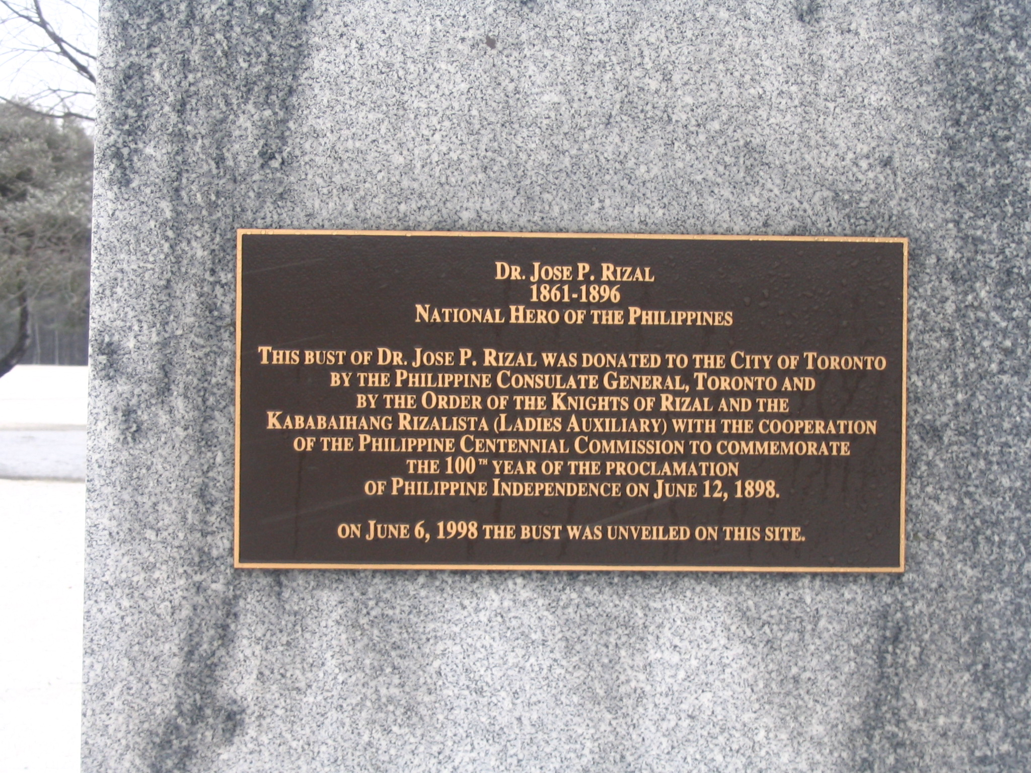 Inscription to Jose Rizal