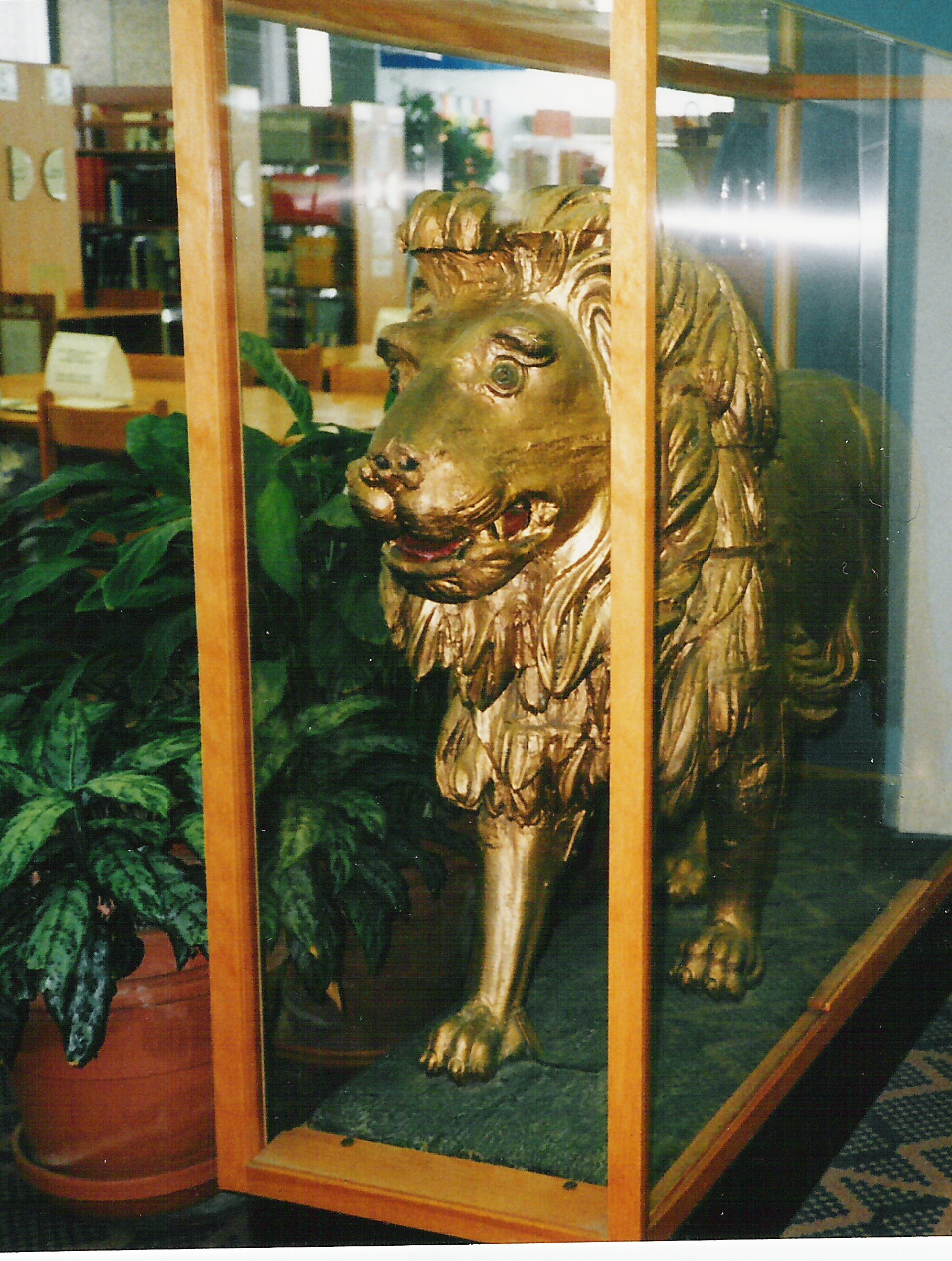 Golden Lion on display in North York Library