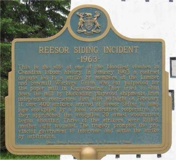 reesor siding plaque