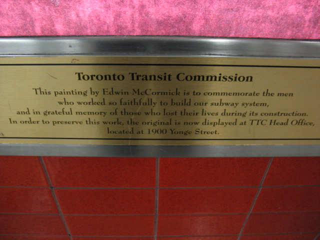 plaque to subway workers